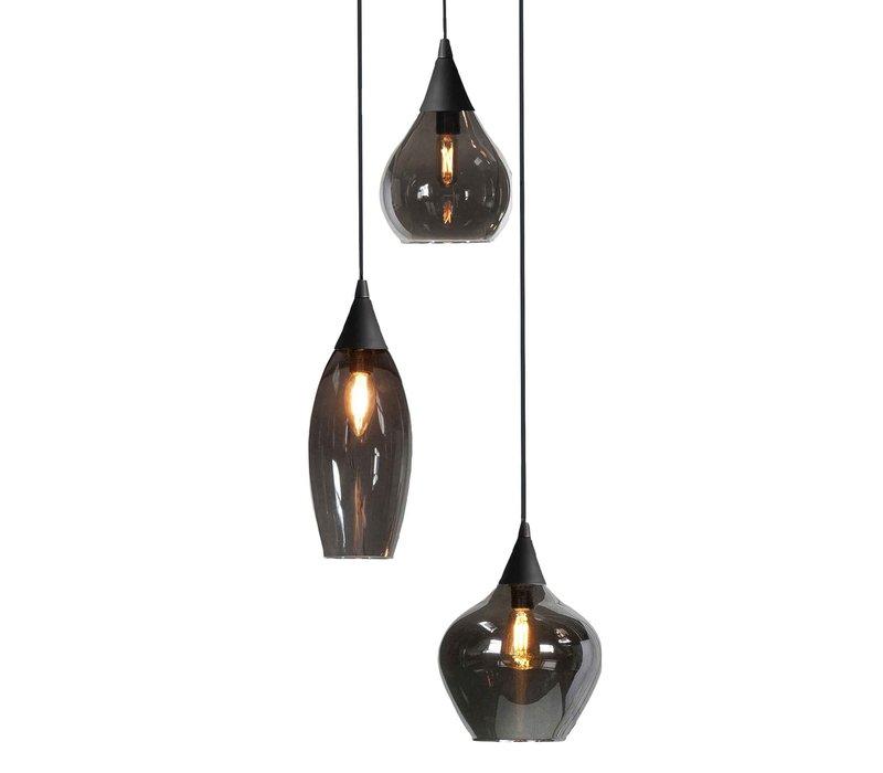 Hanglamp Cambio 3 lichts Ø 30 cm zwart