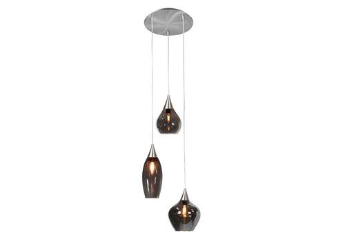 Highlight Hanglamp Cambio 3 lichts Ø 30 cm mat chroom