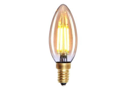 Highlight Lamp LED E14 kaars 4W 280LM 2200K Dimbaar amber