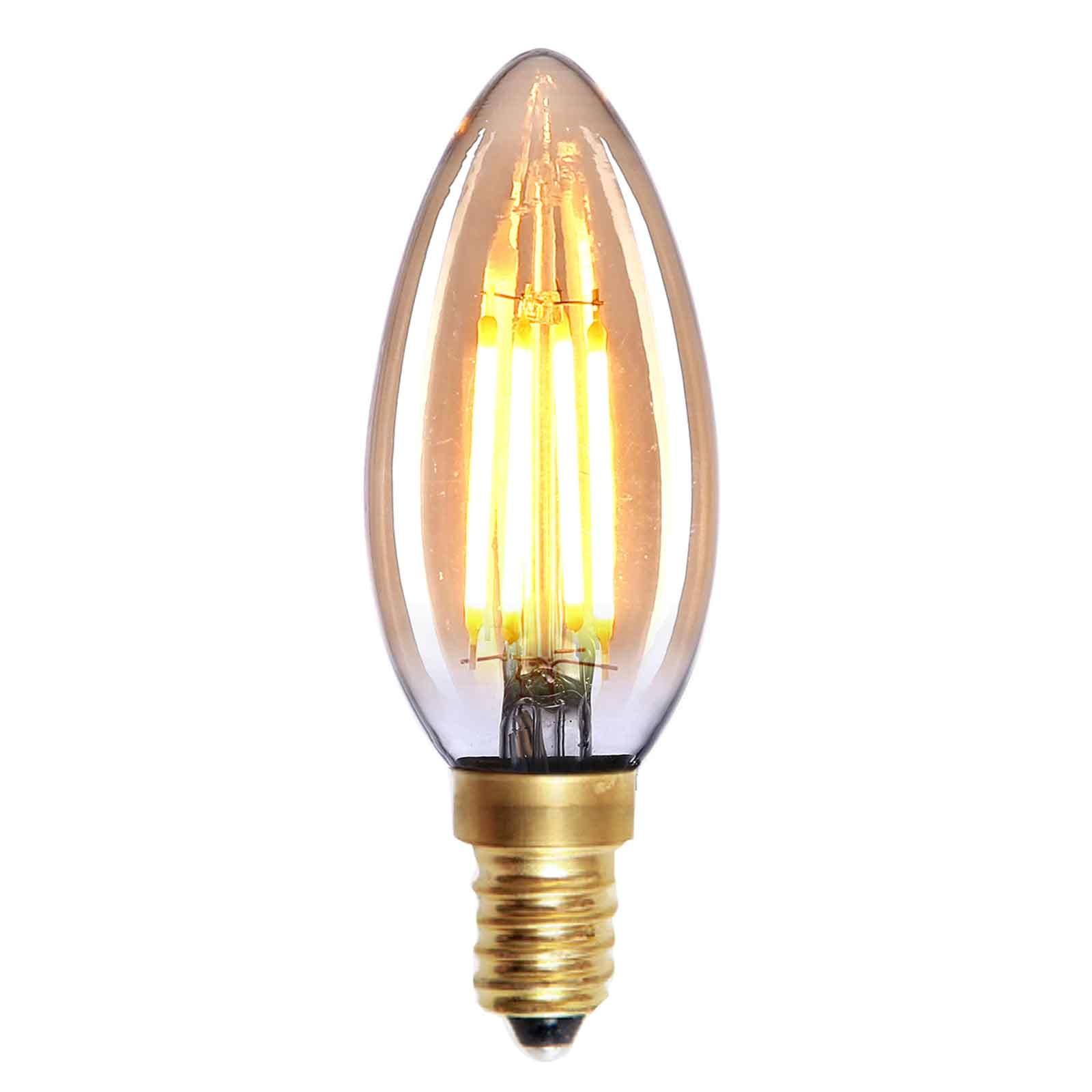 Highlight Lamp LED E14 kaars 4W 280LM 2200K Dimbaar amber