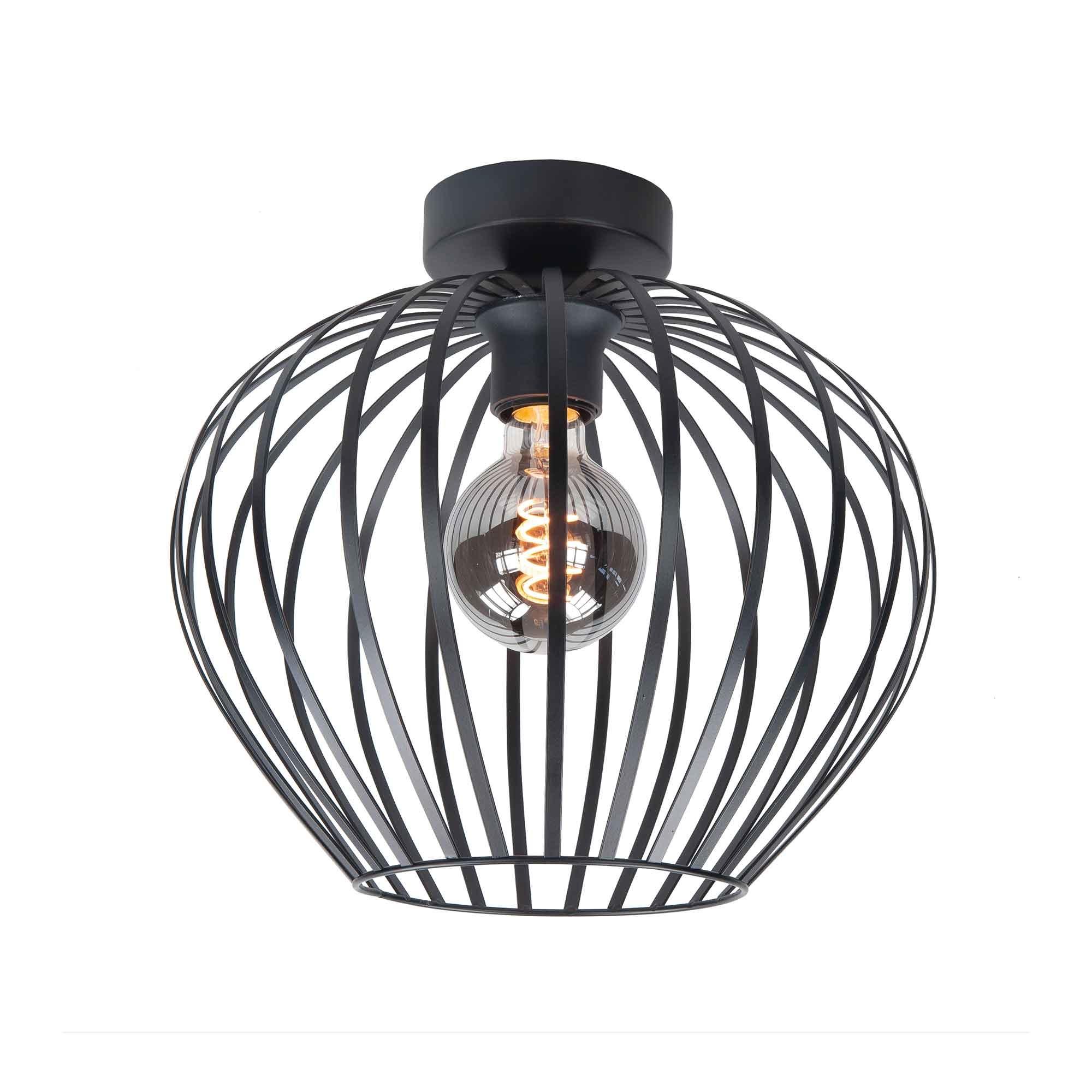 Highlight Plafondlamp Mela Ø 30 cm zwart