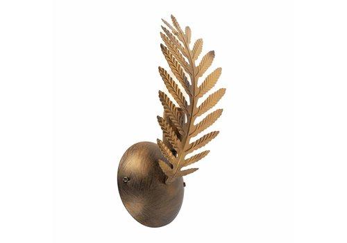 Ylumen Wandlamp Palm 1 blad H 32 cm goud bruin