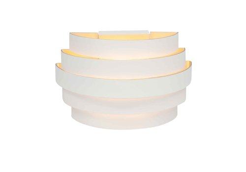Highlight Wandlamp Scudo B 20 cm wit goud