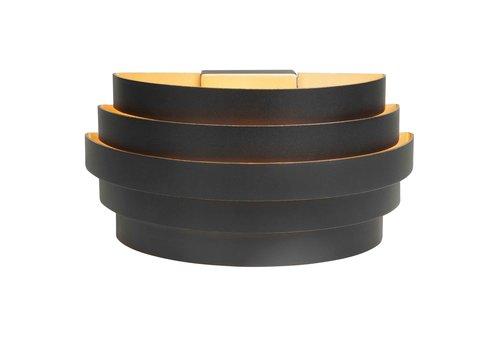 Highlight Wandlamp Scudo B 25 cm zwart goud