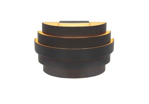 Highlight Wandlamp Scudo B 20 cm zwart goud