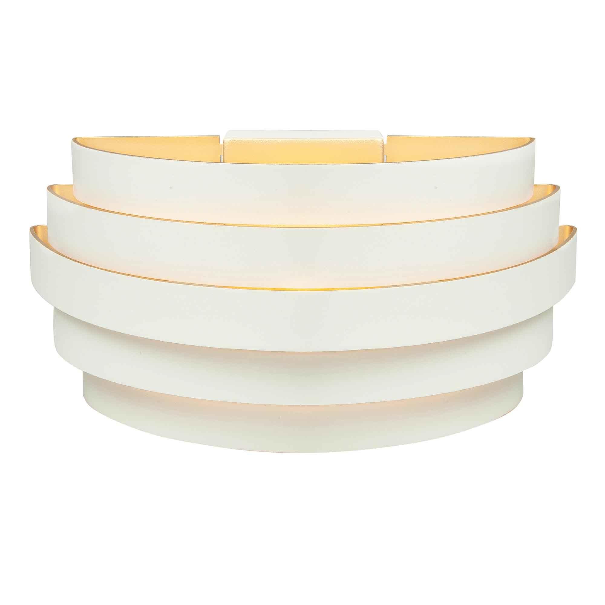 Highlight Wandlamp Scudo B 25 cm wit goud