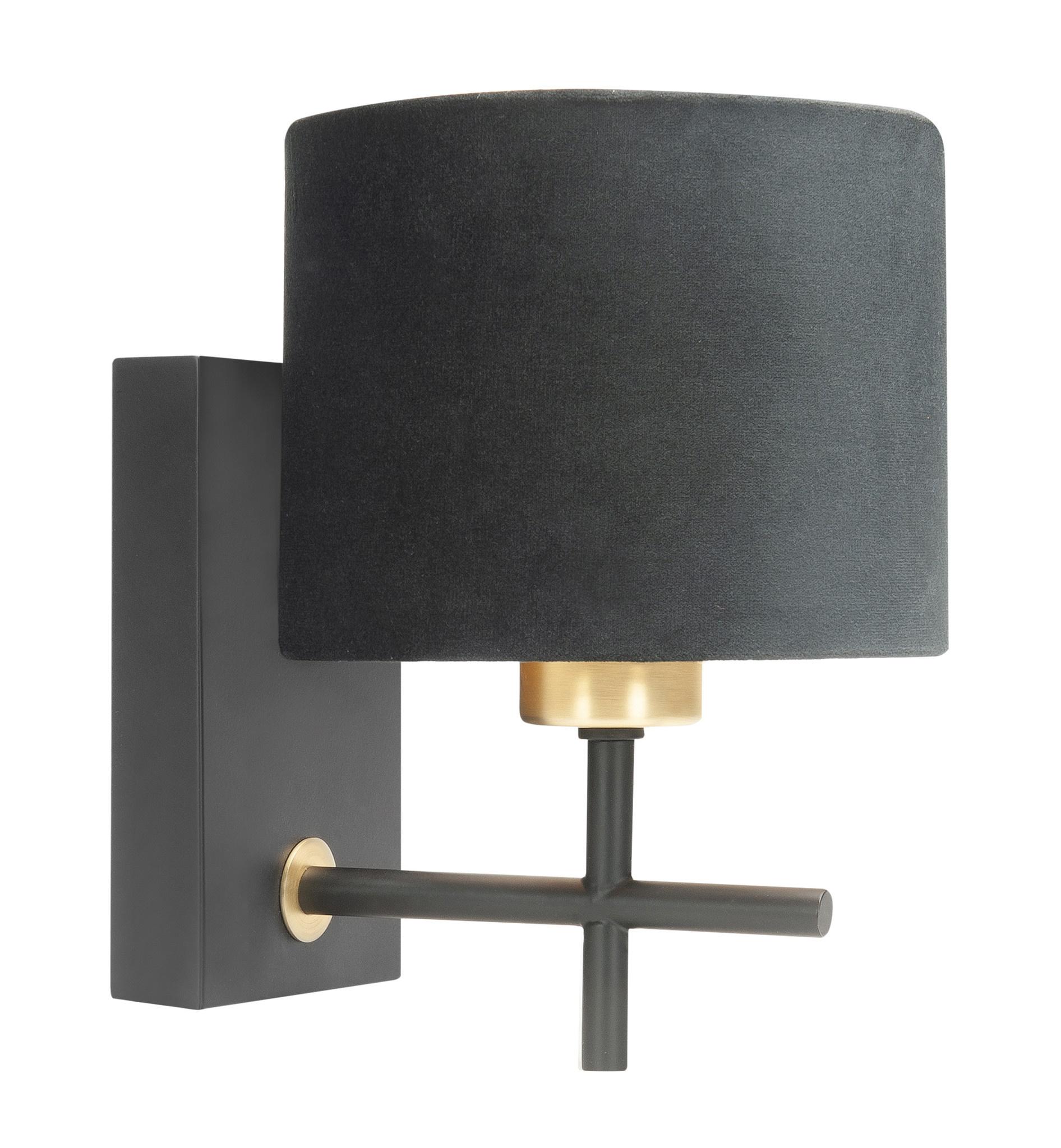 Highlight Wandlamp Torcia H 23 cm Ø 15 cm zwart goud