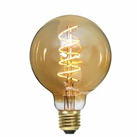 Lamp LED G95 9W 650LM 2200K Dimbaar Amber