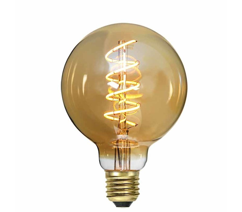 Lamp LED G95 4W 180LM 2200K Dimbaar Amber