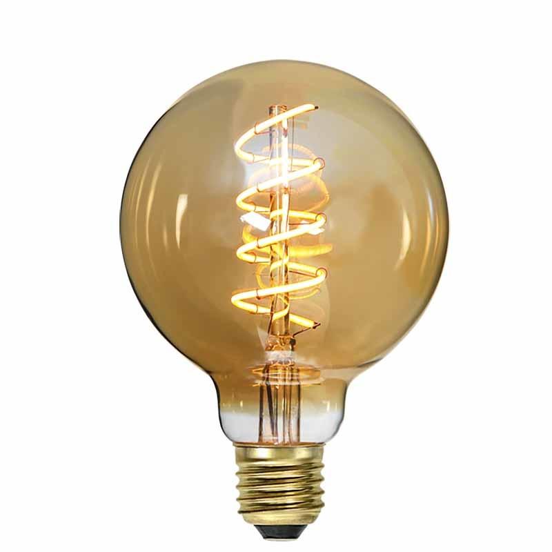 Highlight Lamp LED G95 4W 180LM 2200K Dimbaar Amber