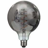 Lamp LED G125 4W 100LM 2200K Dimbaar Rook