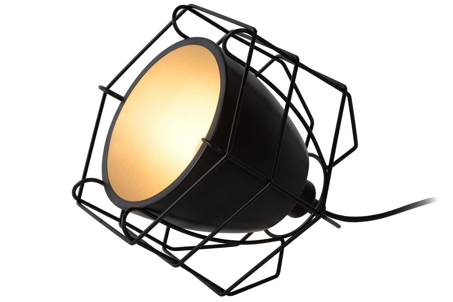 Lucide GRID Tafellamp-Zwart-1xE14-40W-Metaal