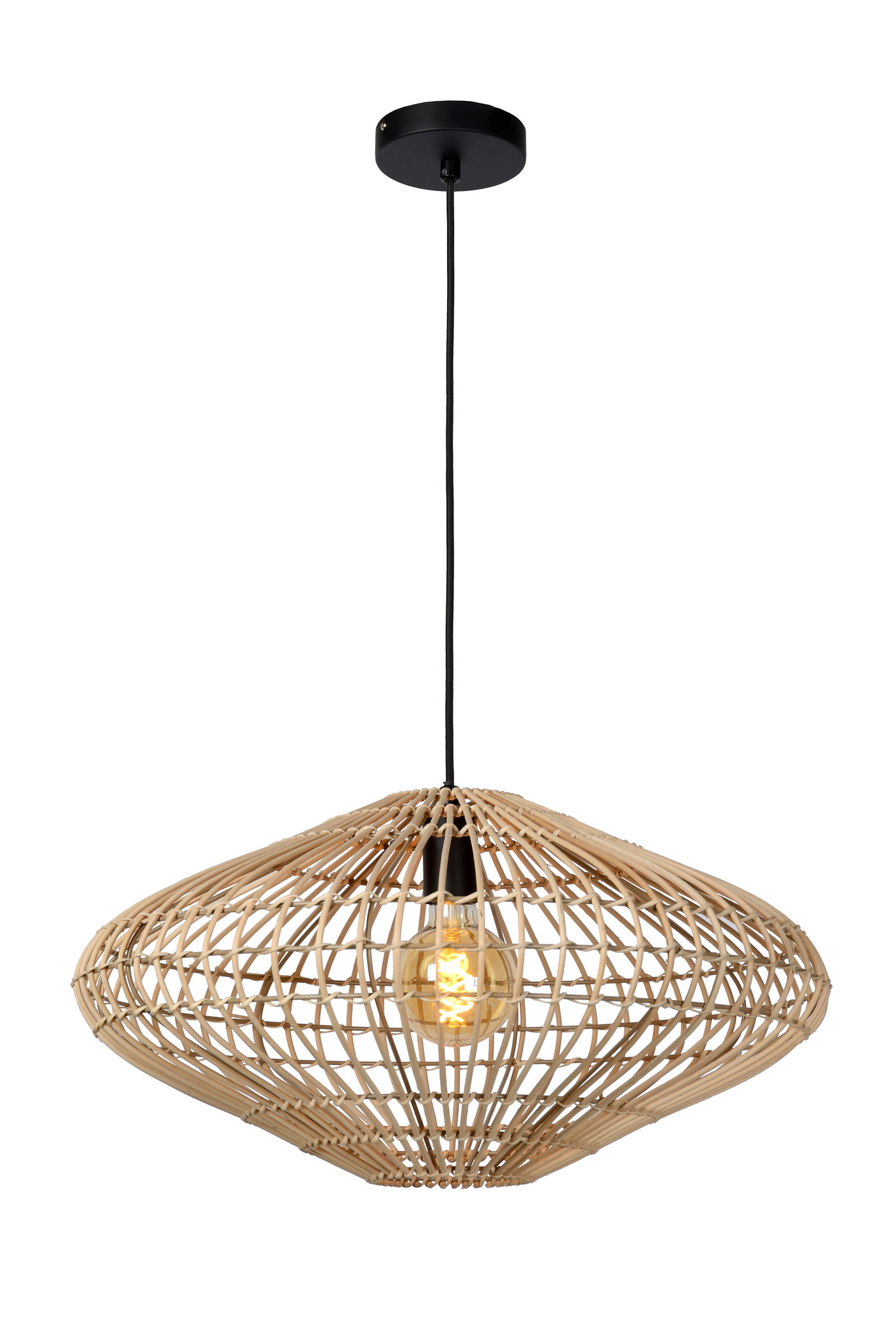 Lucide MAGALI Hanglamp-Licht .-Ø56-1xE27-40W-Rotan
