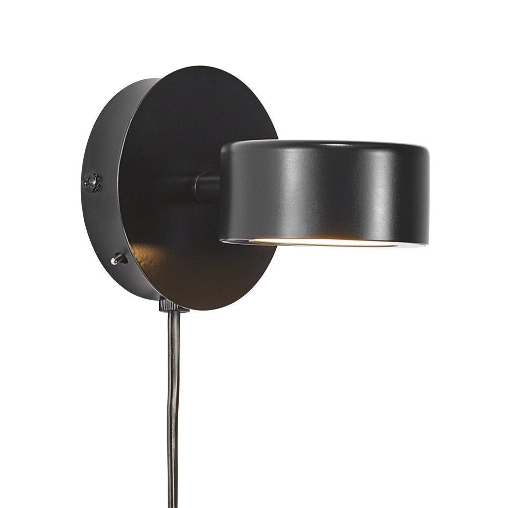 Nordlux Wandlamp Clyde Ø 10 cm 3 step dim zwart