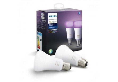 Philips HUE Lichtbron E27 White and color Ambiance 2 pack