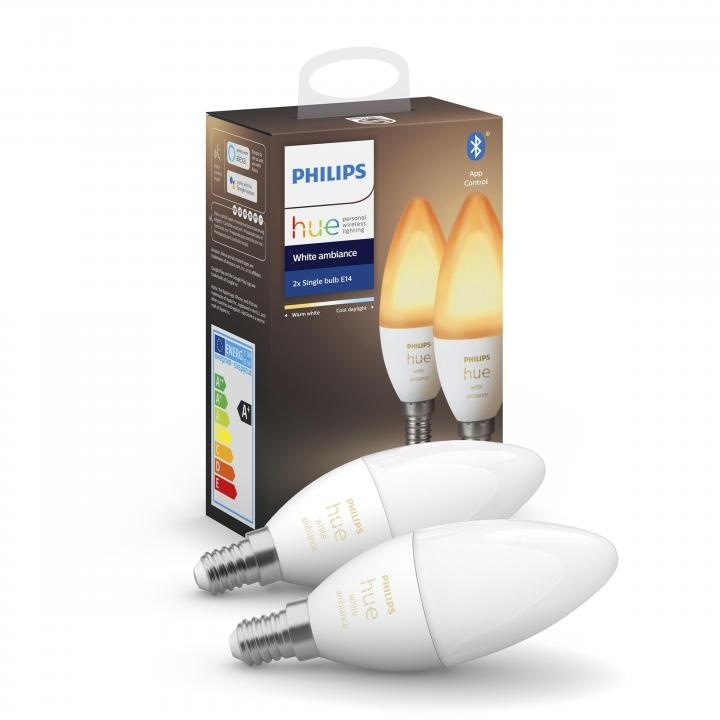 Philips HUE Lichtbron E14 White Ambiance 2 pack