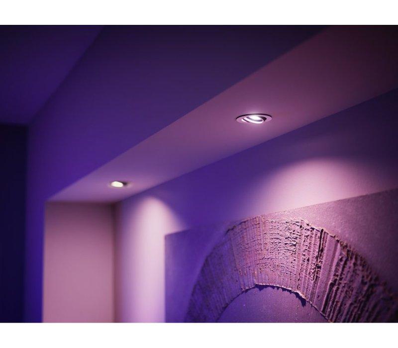 HUE starterskit 3 LED lampen GU10 White and Color Ambiance met bridge