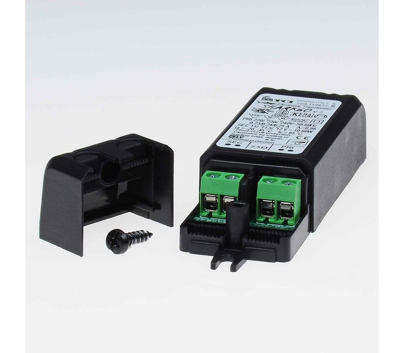 Transformator Pico 10-60 Watt 12 volt zwart