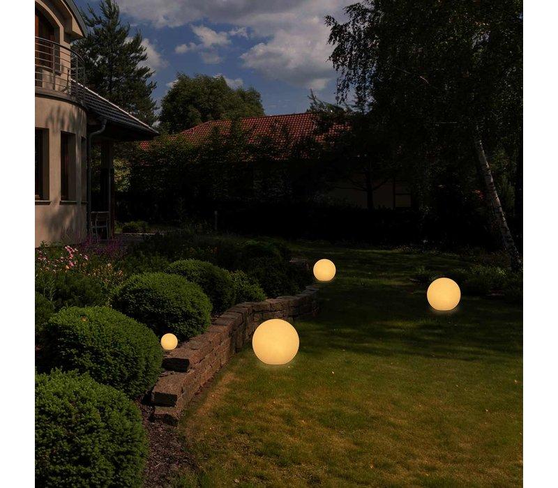 Buitenlamp Globe Ø 30 cm wit