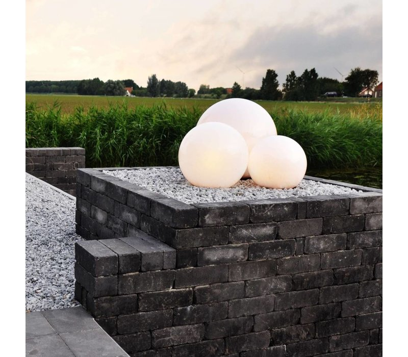 Buitenlamp Globe Ø 40 cm wit