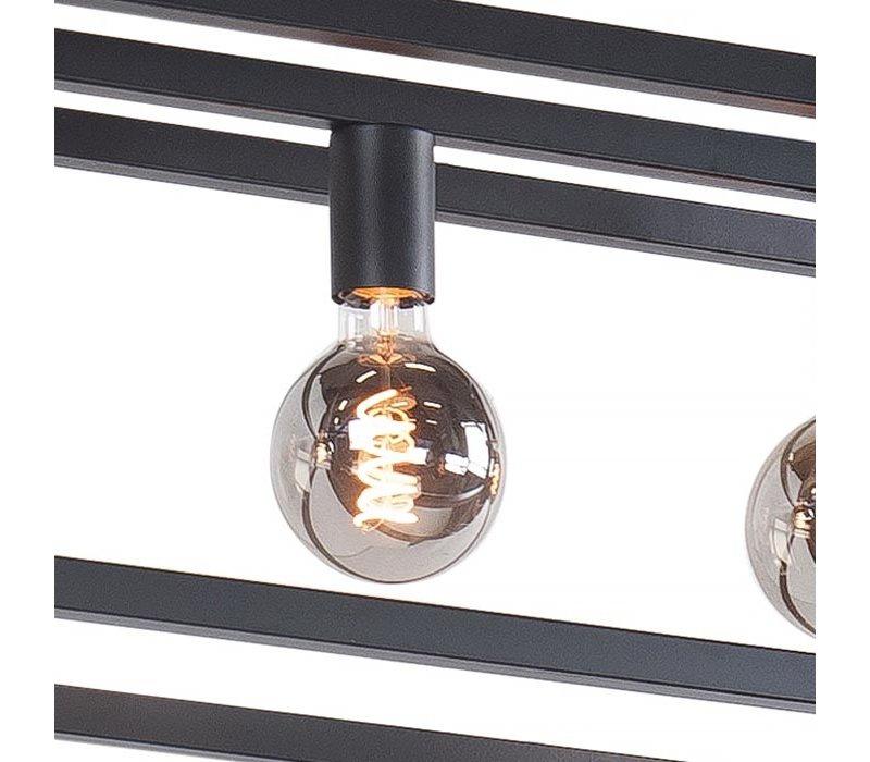 Hanglamp Fragola 7 lichts L 170 cm B 25 cm zwart