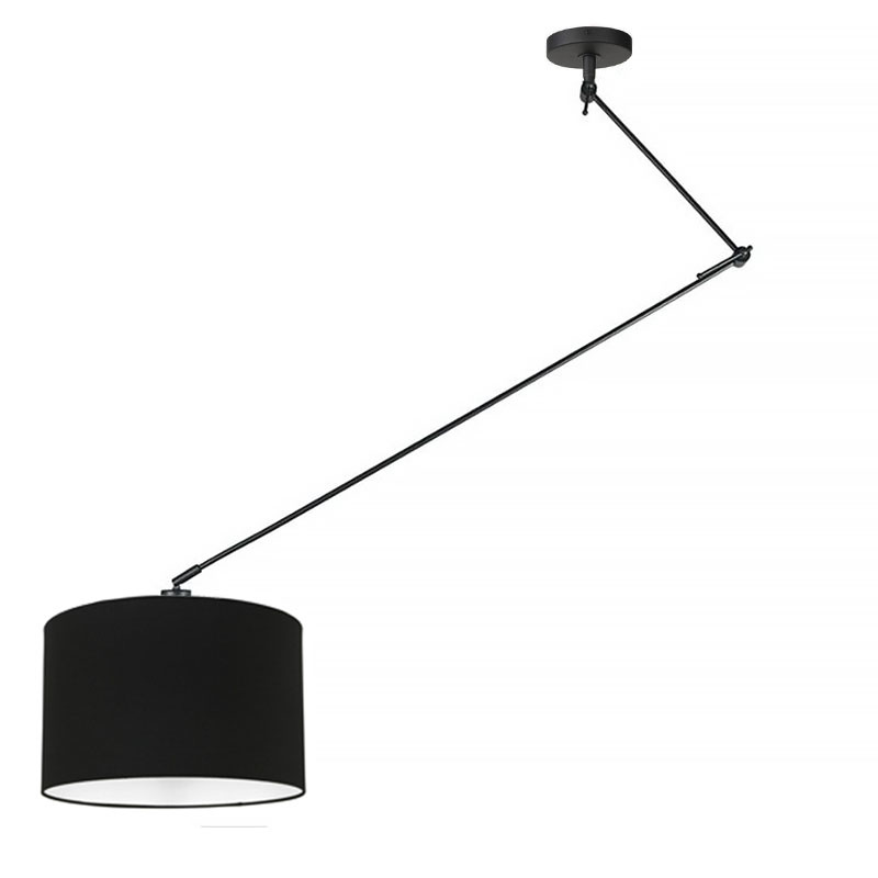 Ylumen Hanglamp Knik met zwarte kap Ø 40 cm zwart