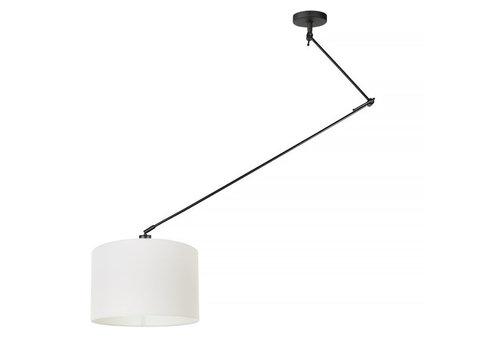 Ylumen Hanglamp Knik met witte kap Ø 40 cm zwart