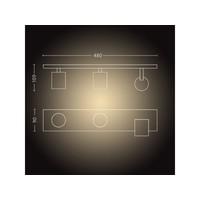 Spot HUE Runner 3 lichts wit
