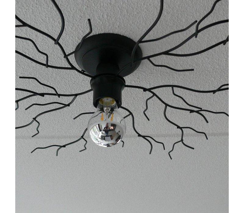Plafondlamp Bichero Ø 50 cm zwart