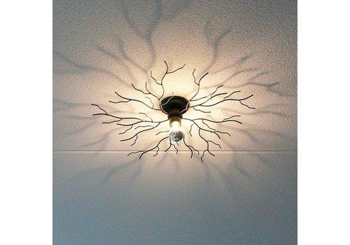 Ylumen Plafondlamp Bichero Ø 50 cm zwart