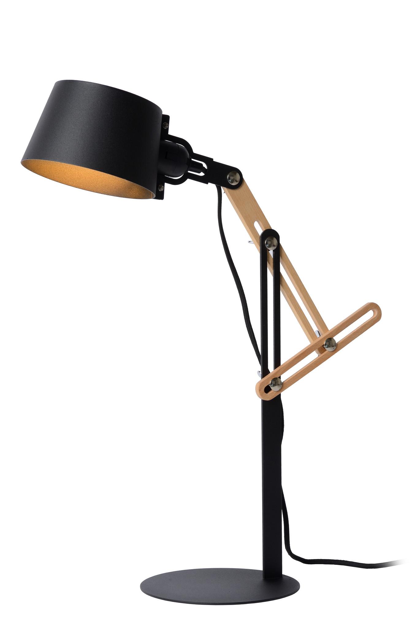 Lucide KREEN Bureaulamp E27/40W H65cm Zwart