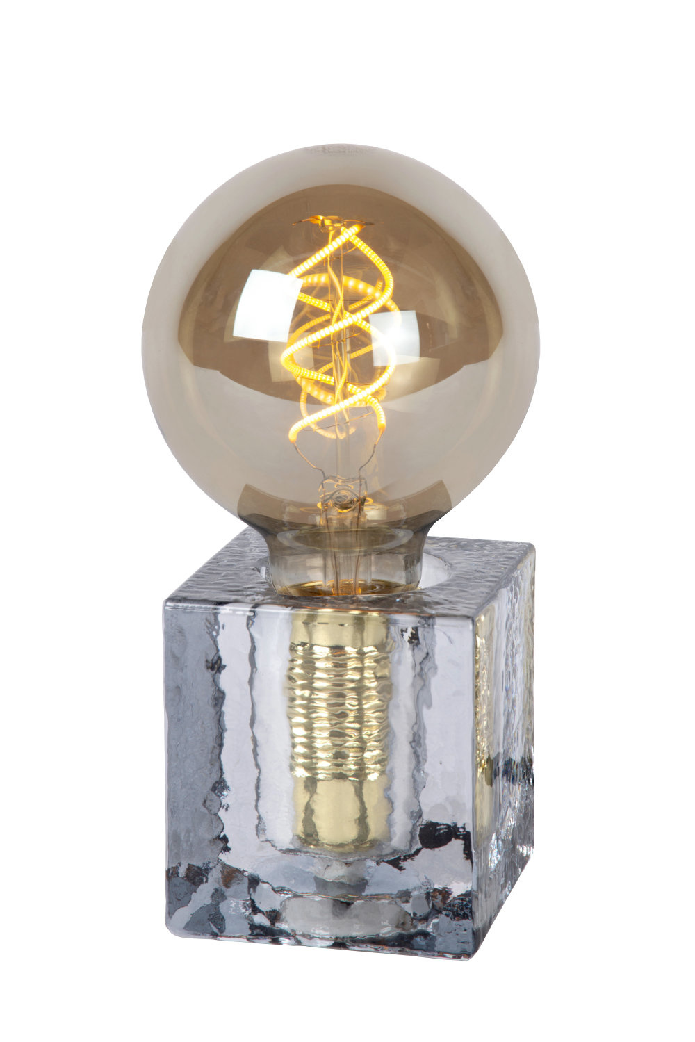 Lucide GELKA Tafellamp-Fumé-1xE27-40W-Glas