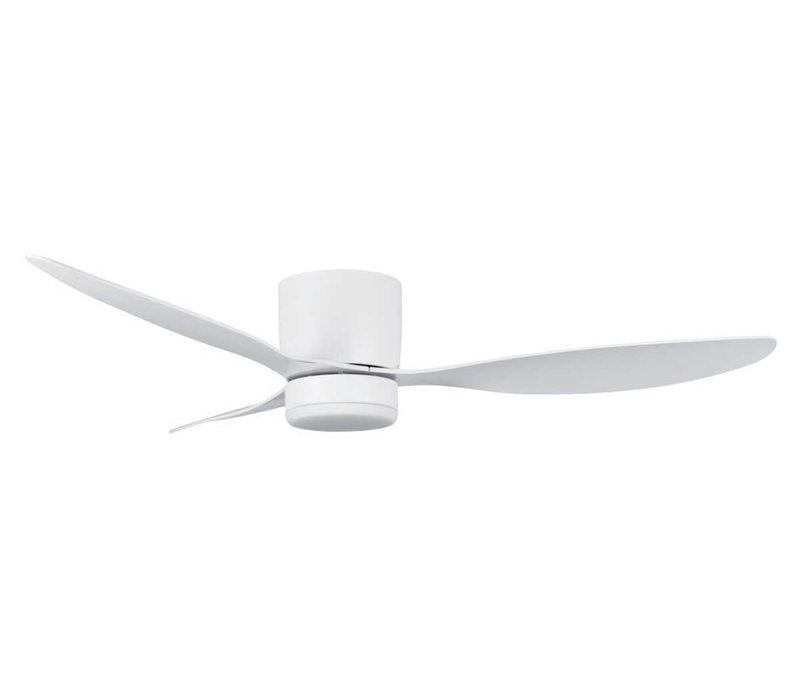 Plafondventilator Brezza Ø 132 cm met verlichting wit