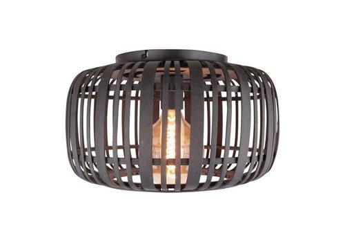 Freelight Plafondlamp Treccia Rotan Ø 40 cm zwart