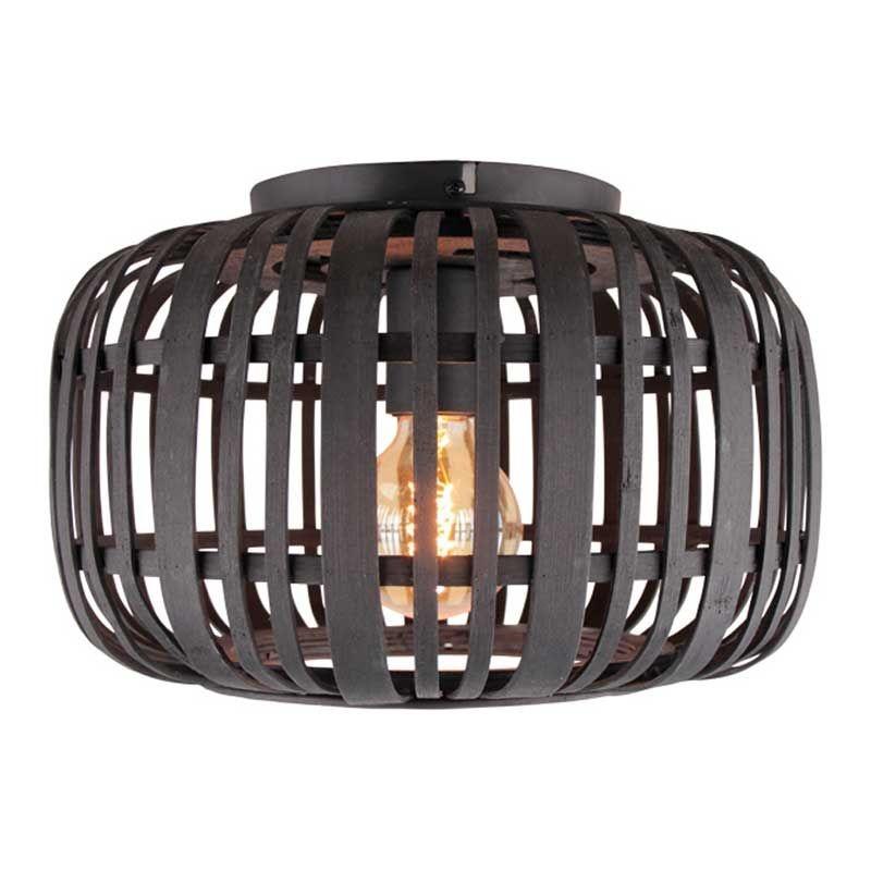 Freelight Plafondlamp Treccia Rotan Ø 34 cm zwart