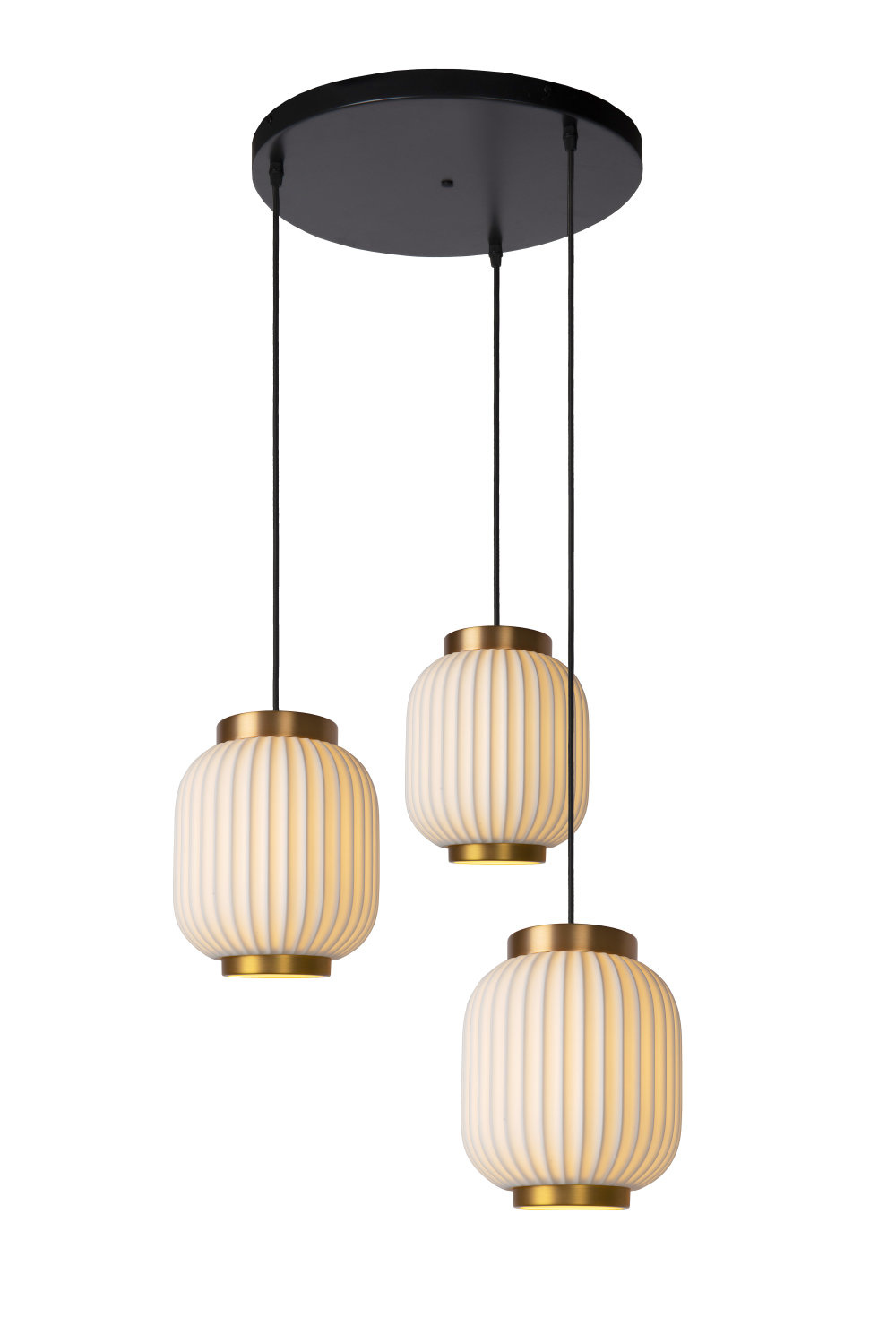Lucide GOSSE Hanglamp-Wit-3xE27-40W-Porsel.