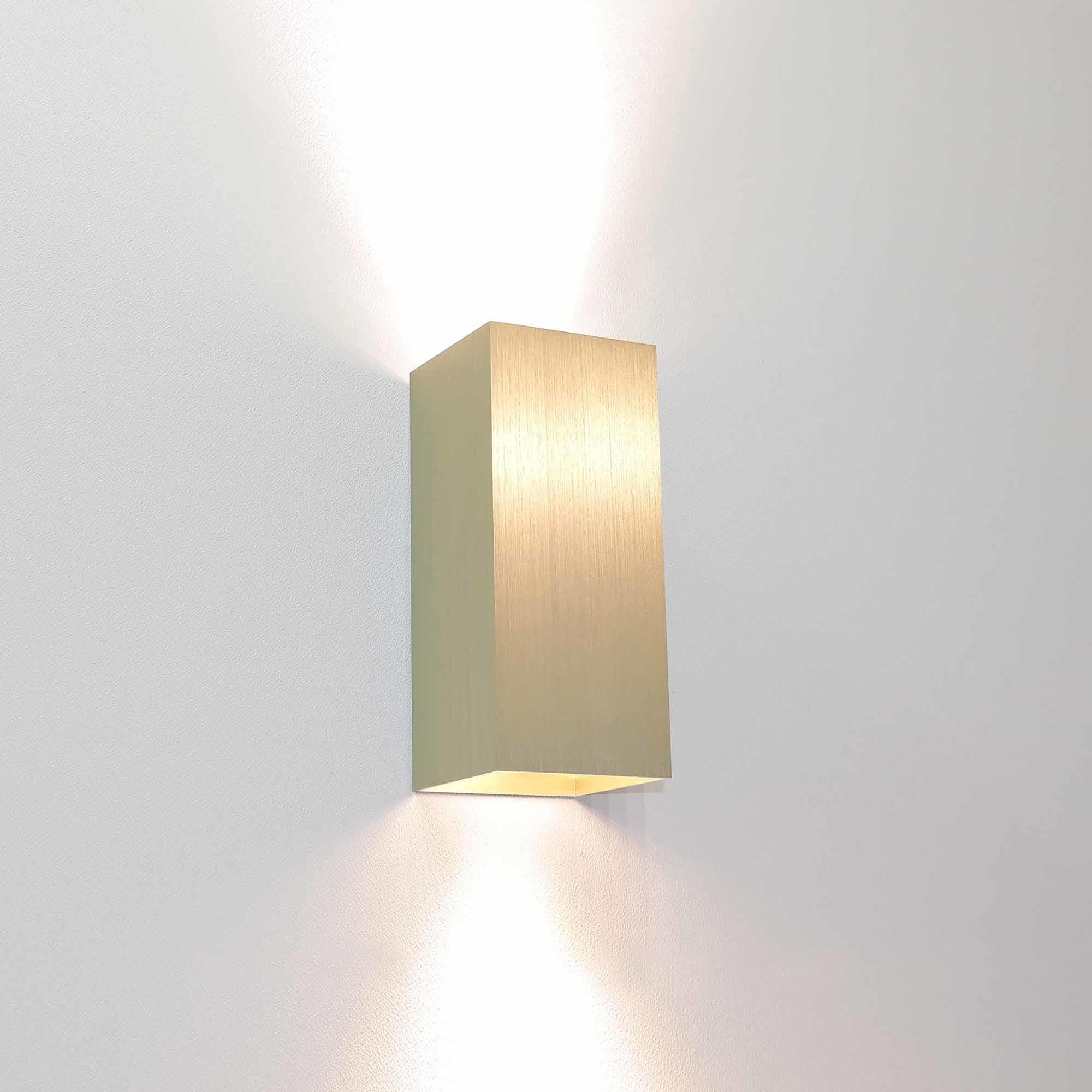Artdelight Wandlamp Dante 2 lichts 15,5 x 6,5 cm mat goud
