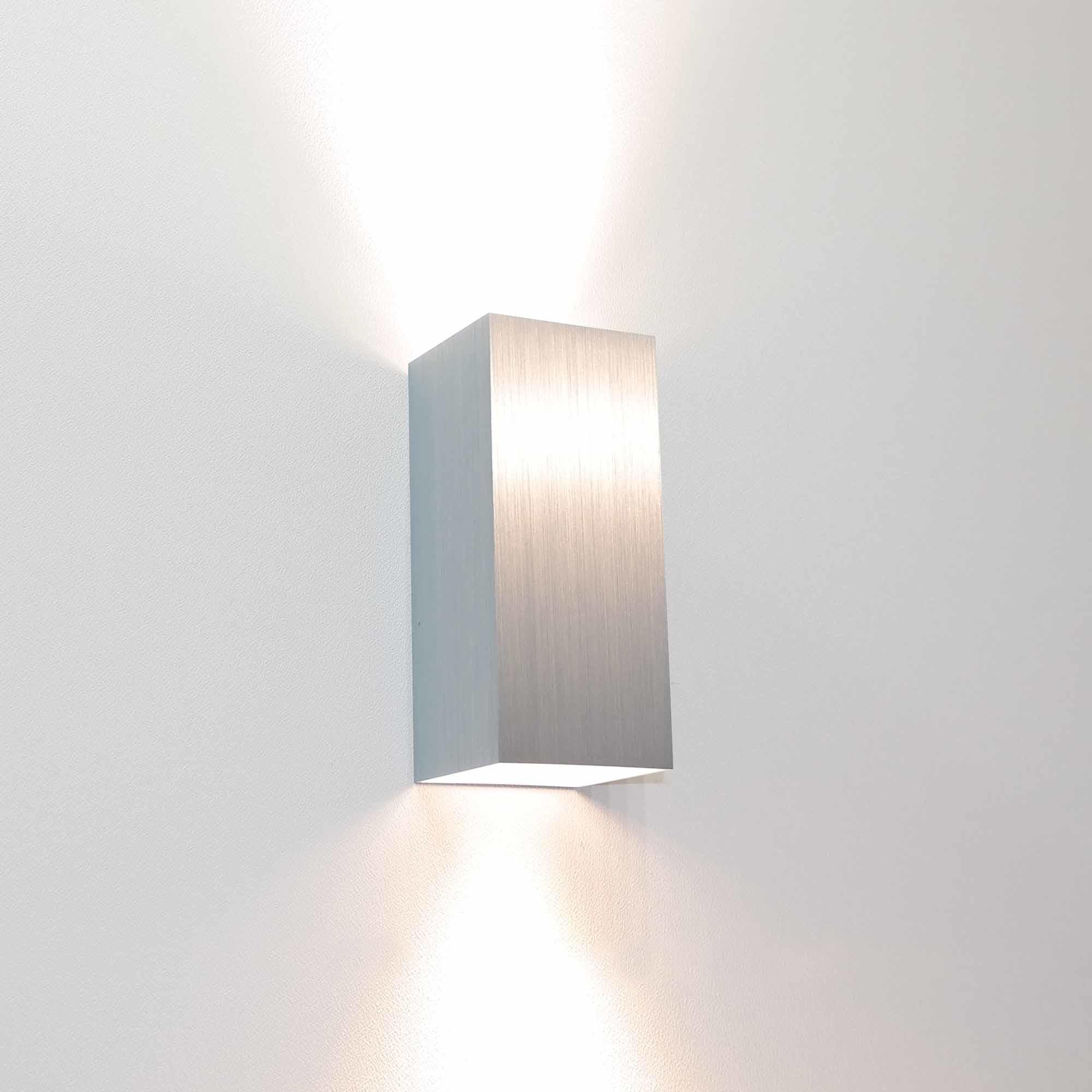 Artdelight Wandlamp Dante 2 lichts 15,5 x 6,5 cm aluminium
