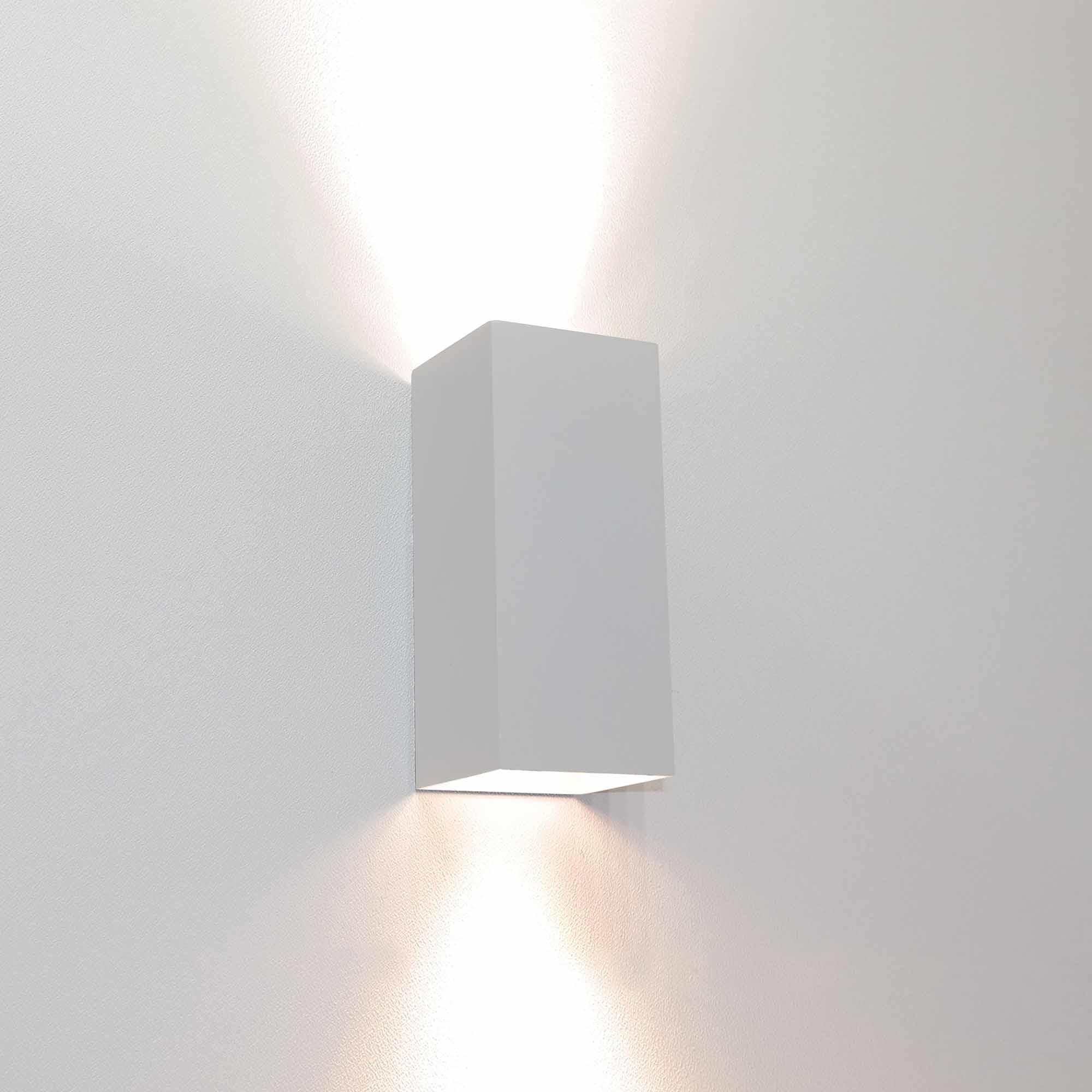 Artdelight Wandlamp Dante 2 lichts 15,5 x 6,5 cm wit