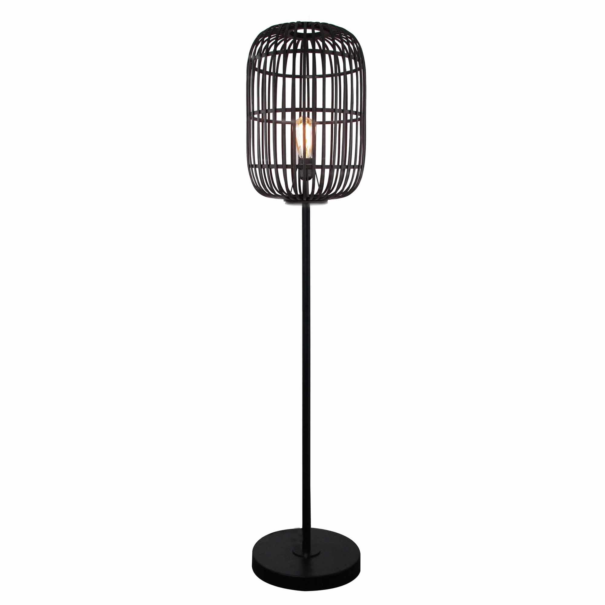 Freelight Vloerlamp Treccia H 175 cm zwart