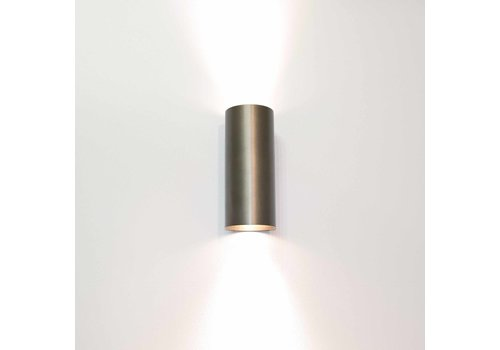 Artdelight Wandlamp Roulo 2 lichts H 15,4 Ø 6,5 cm licht brons