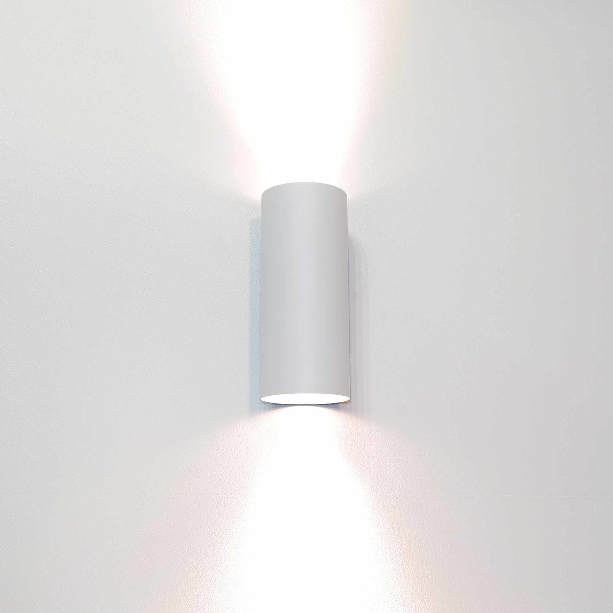 Artdelight Wandlamp Roulo 2 lichts H 15,4 Ø 6,5 cm wit