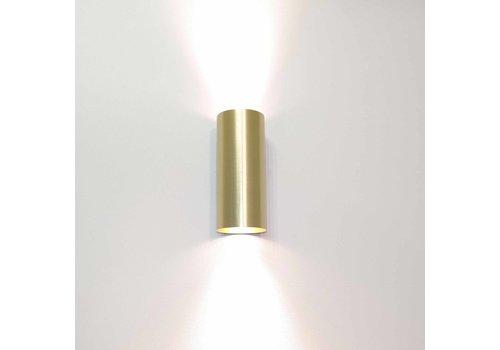 Artdelight Wandlamp Roulo 2 lichts H 15,4 Ø 6,5 cm mat goud