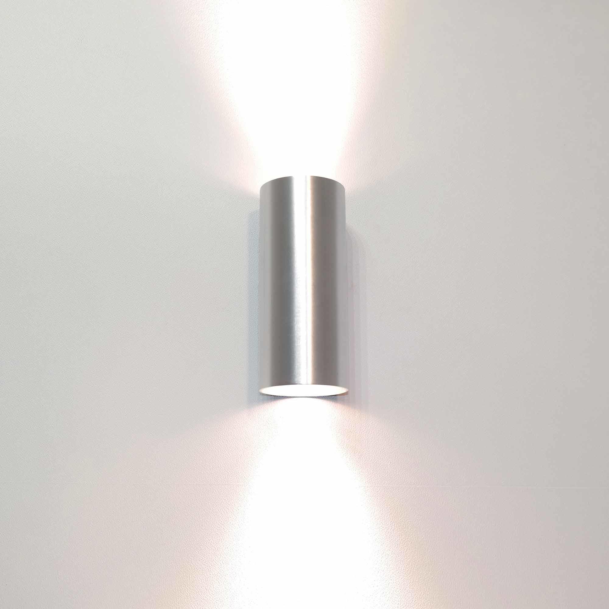 Artdelight Wandlamp Roulo 2 lichts H 15,4 Ø 6,5 cm aluminium