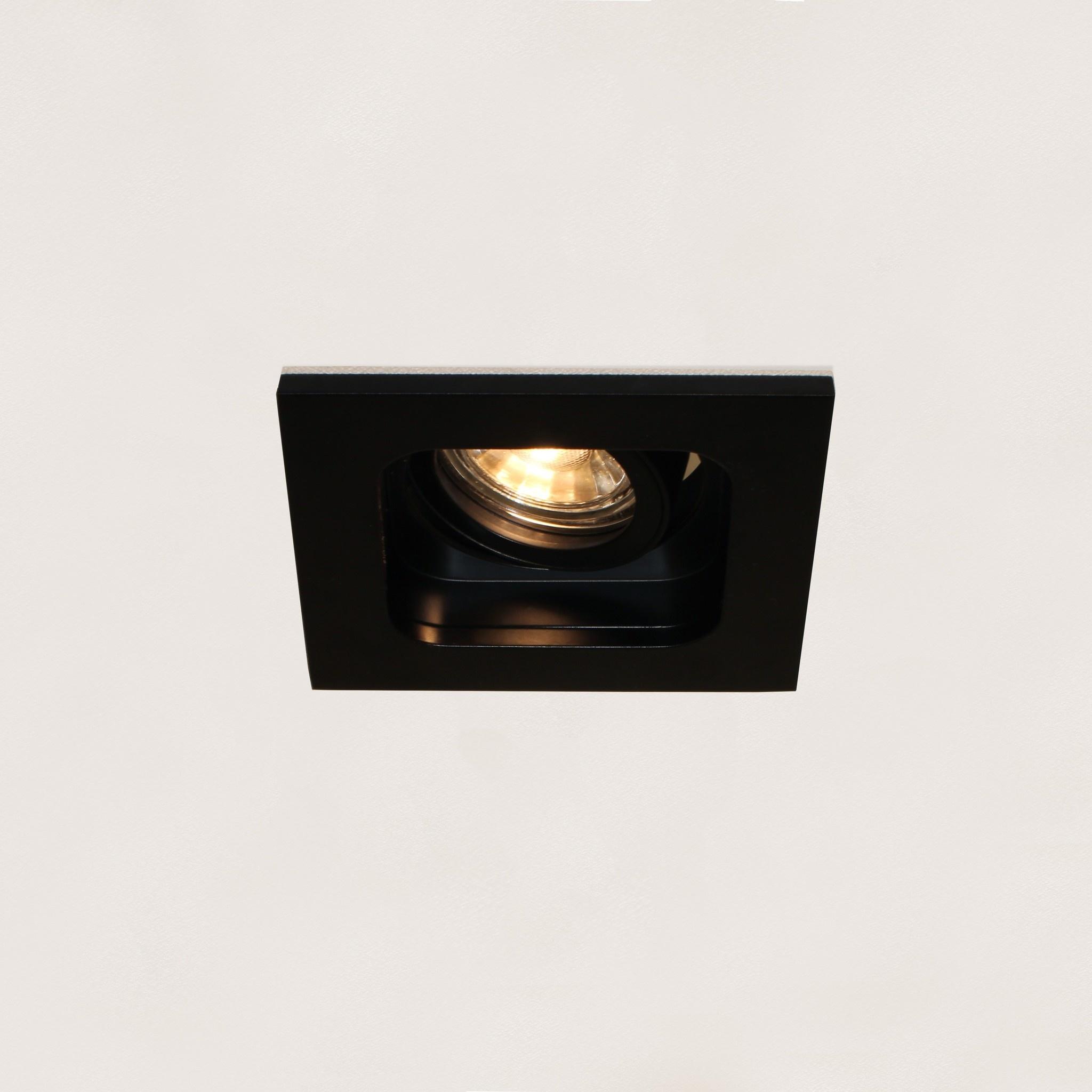 Artdelight Inbouwspot Moggio 1 lichts GU10 zwart