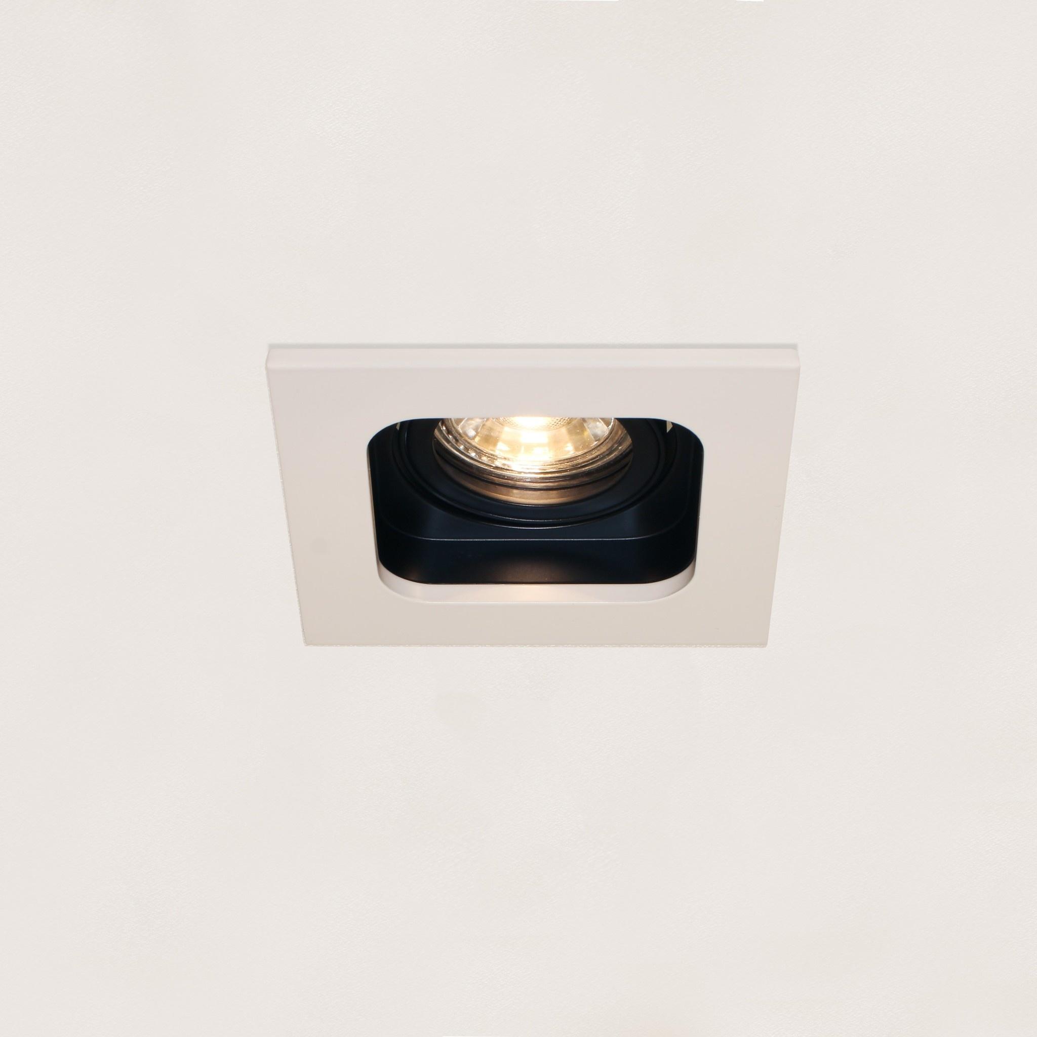 Artdelight Inbouwspot Moggio 1 lichts GU10 wit zwart