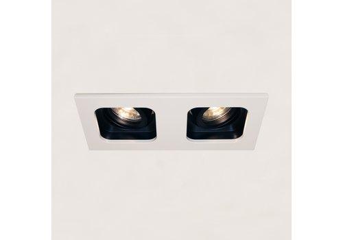 Artdelight Inbouwspot Moggio 2 lichts GU10 wit zwart