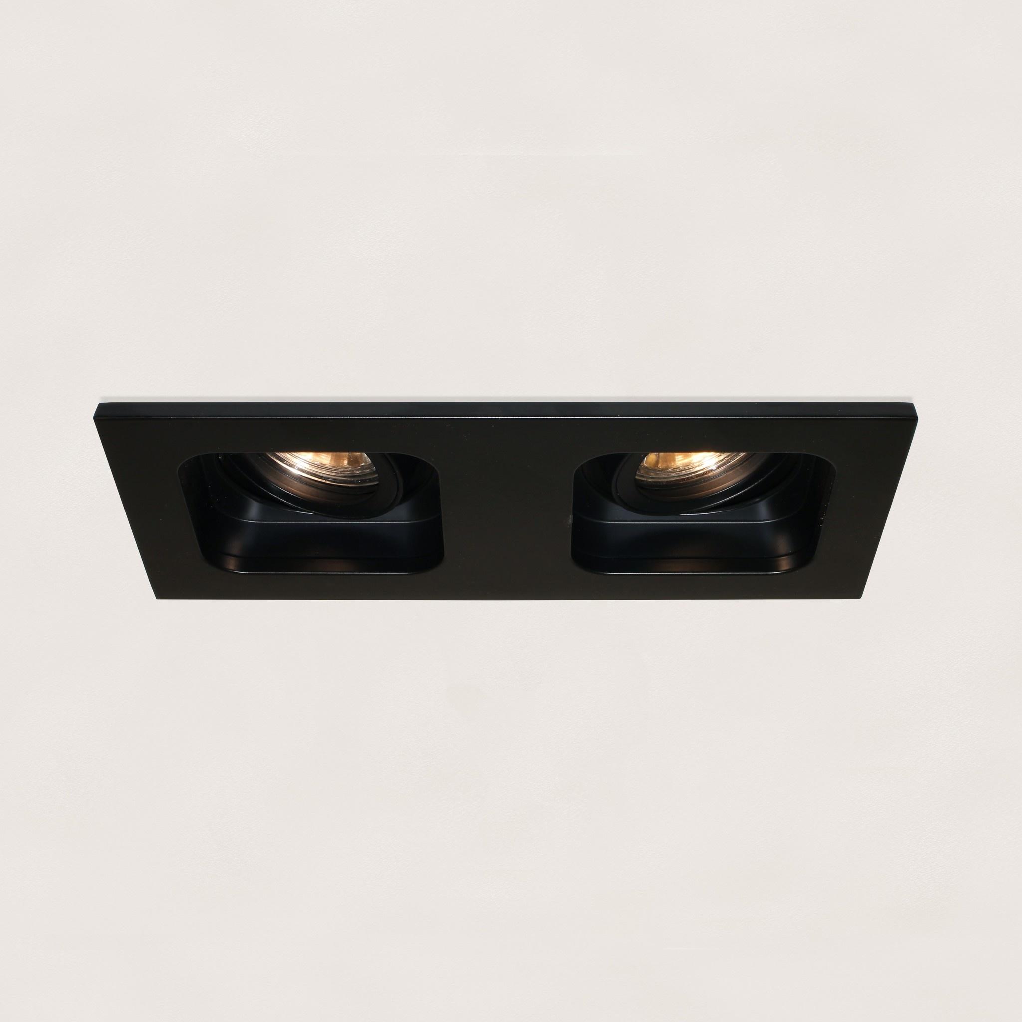 Artdelight Inbouwspot Moggio 2 lichts GU10 zwart