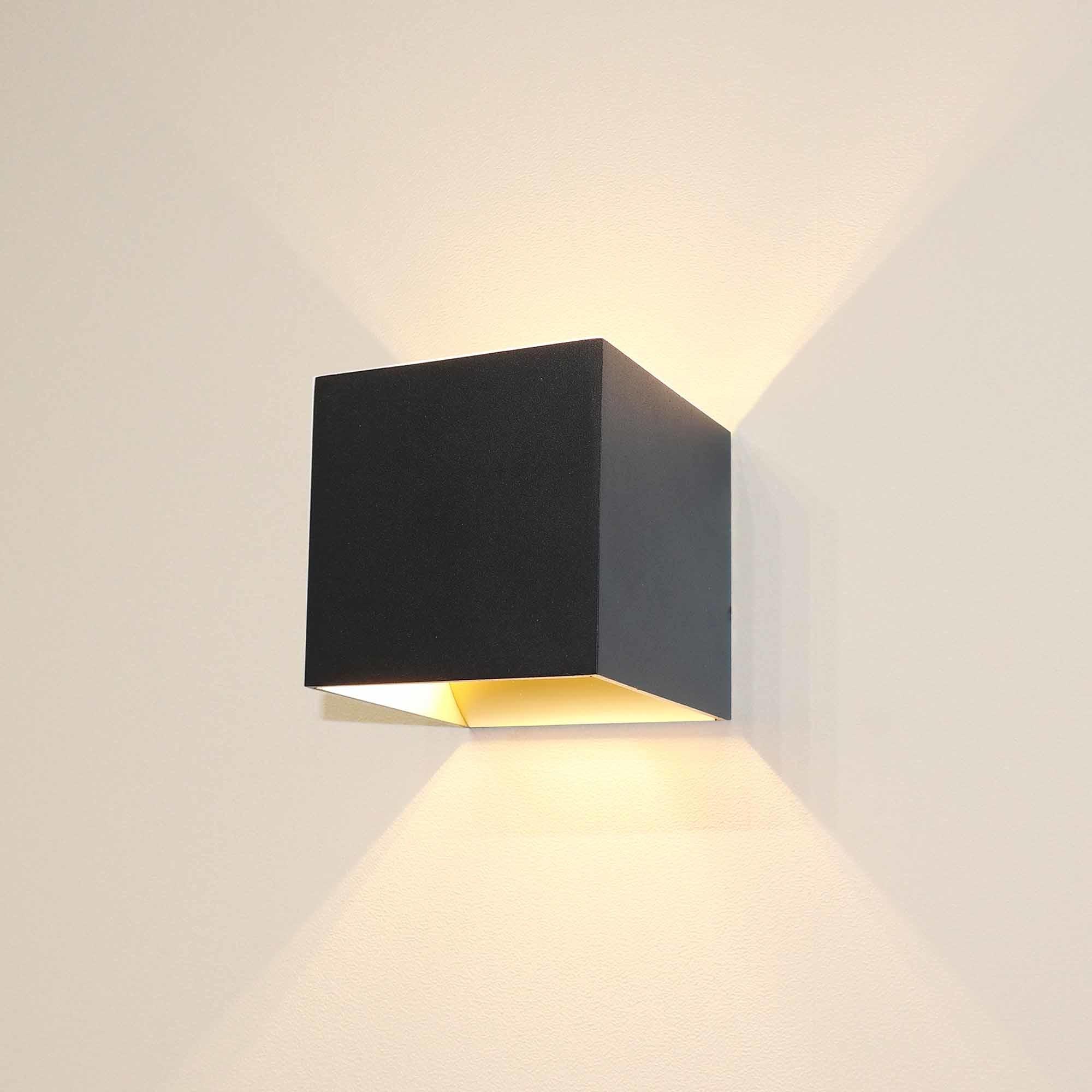 Artdelight Wandlamp Gymm 10x10 cm excl. G9 zwart goud