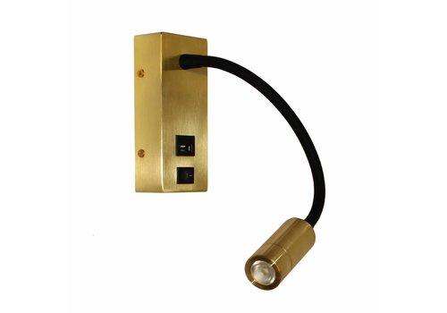 Artdelight Wandlamp Easy USB mat goud
